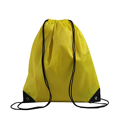 LIHI Bag 10 Pack Ripstop Drawstring Backpack,Party Favors Treat Bags,Yellow