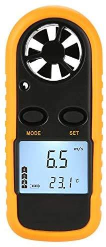 Digitales Anemometer, Handgerät, LCD-Digitalanzeige, Windgeschwindigkeits-Messgerät, Messgerät für Luftdurchflussmessung, Thermometer für Windsurfen, Segeln, Surfen, Angeln