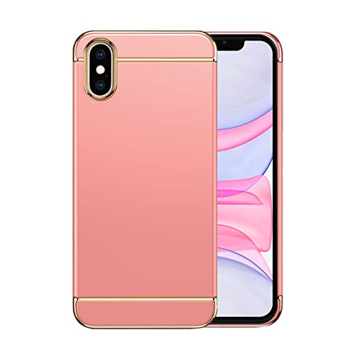 Funda iPhone X Apple Case,Fundas iPhone X Antigolpes Carcasa Diseño Minimalista Estuche Rígido Ultra Original Delgado de PC a Prueba (iPhone X, Oro Rosa)