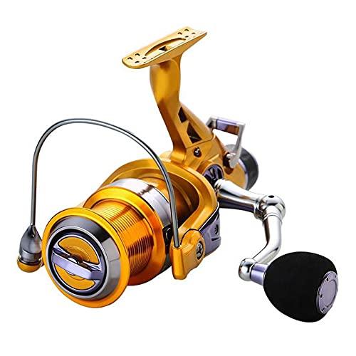TASGK Carrete de Pesca 10+1BB Giratorio Rodamientos de Bolas 5,2:1 Carrete de Metal con Mango Izquierdo/Derecho Carrete de Pesca de Carpa