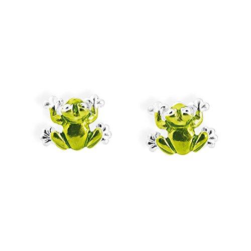 Heartbreaker Luxus Frosch Ohrstecker aus der Kollektion Froggy in Echtsilber   Ohrringe Silber 925 Sterling nickelfrei   Elegante Design Ohrringe für Damen