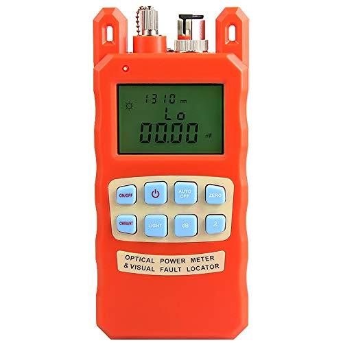 ZHFENG Orange optique wattmètre localisateur visuel de défauts 2 In1 machine Red Light Source À 1-5 optique Outil de mesure (Color : 1mw)