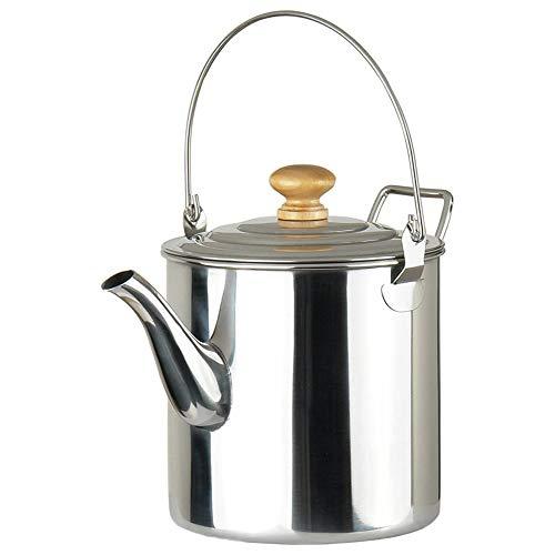 Cestbon 3000Ml Camping Pot Außen Edelstahl Teekessel Kaffee Kanne, Edelstahl Outdoor Kochen Wasserkocher,Silber