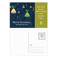 クリスマスベルメリー・クリスマス・フェスティバル 詩のポストカードセットサンクスカード郵送側20個