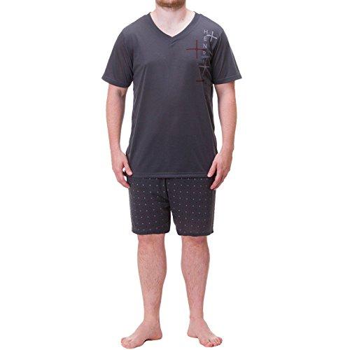 Henry Terre Shorty Pijama–Camiseta para Hombre Pantalón Corto Impresa