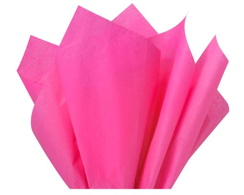 Flexicore Packaging Hot Pink Gift Wrap Tissue Paper Size: 15 Inch X 20 Inch | Count: 100 Sheets | Color: Hot Pink