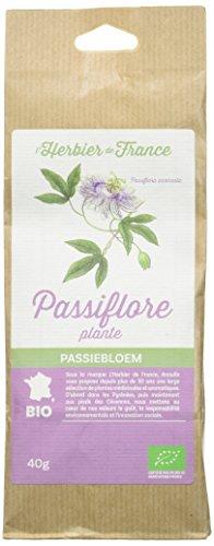 L'herbier de FrancePassiflore Plante Bio Sachet Kraft 40 G, 1 unité