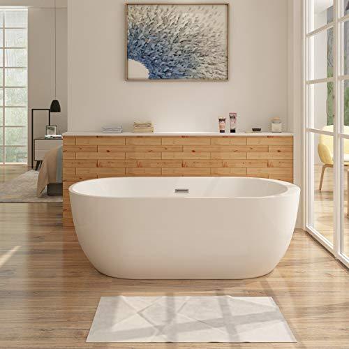 i-flair Freistehende Badewanne FRISANGE Design - aus Acryl in Weiß – verschiedene Größen (150 x 75 cm)
