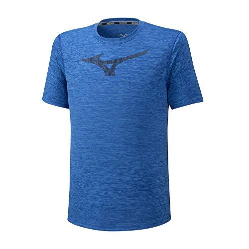 Mizuno Core Graphic RB Camiseta, Hombre, Azul Princesa, L