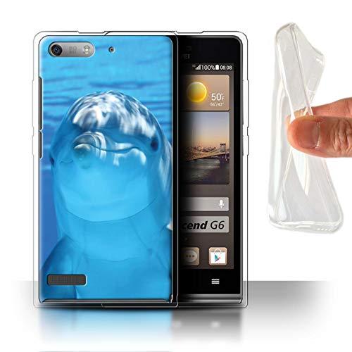 Stuff4® Gel TPU Hülle/Hülle für Huawei Ascend G6 / Unterwasser Lächeln Muster/Delfine Meereslebens Kollektion