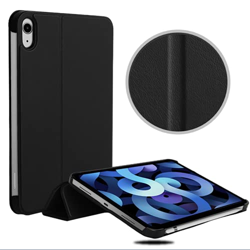 Leather Case for iPad Mini 6 , Lightweight Smart Cover with Auto Sleep/Wake to Protect and Compatible with 2021 Release ipadmini 6th Generation 8.3 inch ,Black