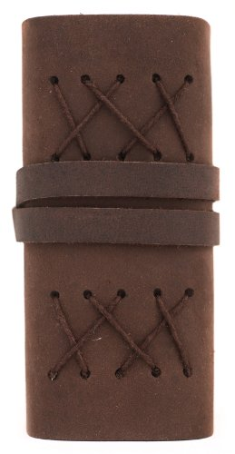 """INDIARY Luxury Wild Leather Bound Journal 100% Cotton Handcrafted Paper 5x4"""" - WILD A6 - Brown Photo #5"""