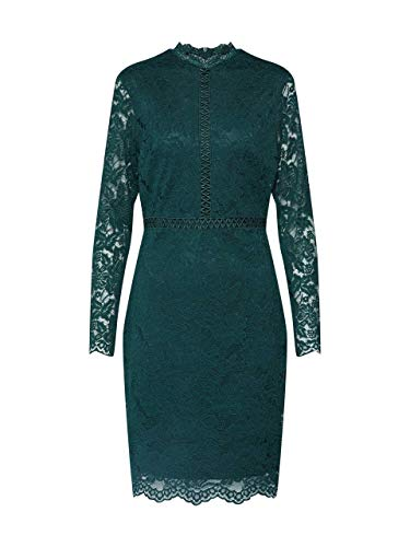 Vila Damen Abendkleid VISIRITA L/S Dress/DC grün 36