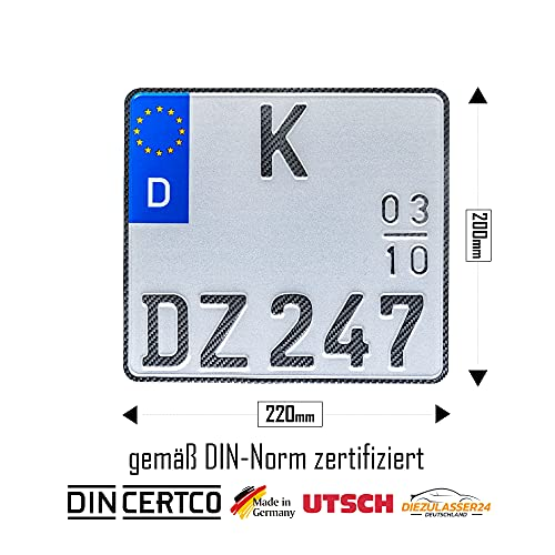 1 Carbon Motorrad Saison Kennzeichen EU...