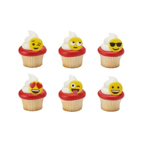 Bakery Supplies Emoticon Emoji Cupcake Rings