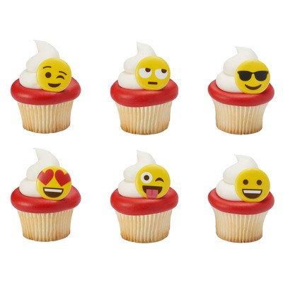 Emoji Cupcake Rings (Set of 24)