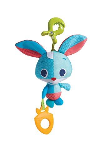Tiny Love Thomas Il Coniglietto Gioco per Passeggino per Bambini e Neonati, Peluche Vibrante Dotato di Clip Aggancio Universale e Massaggiagengive, Coll. Meadow Days