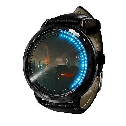 Cyberpunk Series Reloj Reloj para Hombre Cuarzo Casual Fashion LED Anime Resistente al Agua Watches de Pulsera con luz Digital Unisex Cosplay