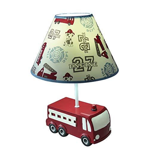 Camion de pompier lampe de table chambre chambre lampe de chevet garçon dessin animé cadeau de fête d'anniversaire lampe de table Lampes et éclairage