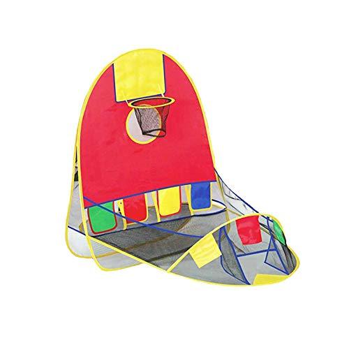 Tragbares Zelt für Kinder, faltbar, Pop-Up-Spielzelt, Basketballkorb, Zelt, für drinnen und draußen,...