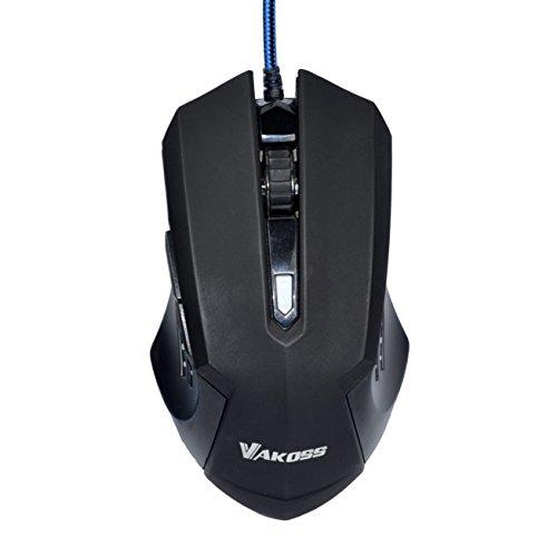 VAKOSS Optische Gaming-Maus Mit einstellbar Auflösung ergonomisches Design hohe Präzision Plug & Play unterstützt Mac und PC