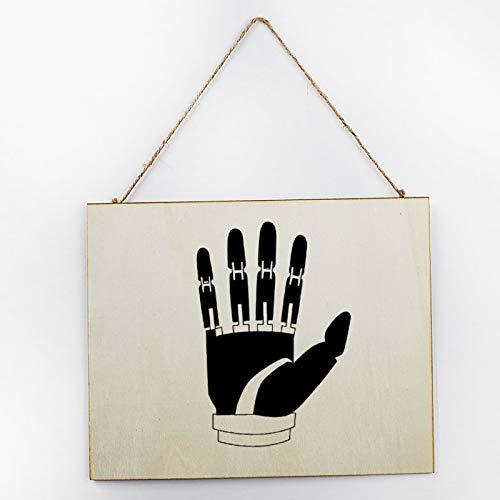 Placa de madera pintada a mano vintage grande pintada a mano regalo...