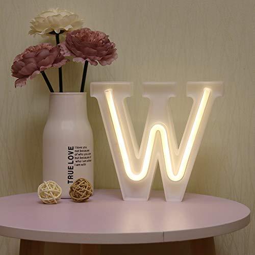 GUOCHENG - Luces LED de neón para letras de alfabeto con luz de letra, batería y USB Power Marquee, luces de neón para Navidad, bodas, decoración de fiestas