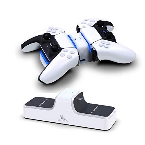 Lioncast PS5 Ladestation mit LED-Anzeige | PS5 Controller Charger für original Sony Playstation 5 Konsole | PS 5 Zubehör | Wireless DualSense Controller