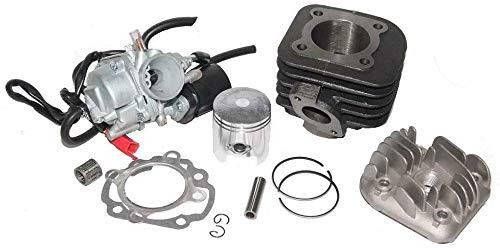 UNTIMERO 70ccm Racing Zylinder Kopf + VERGASER 17,5mm Satz für ADLY ATV Quad 50 Luft