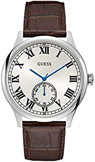 Guess Dress Watch for Men, Genuine Leather, Analog
