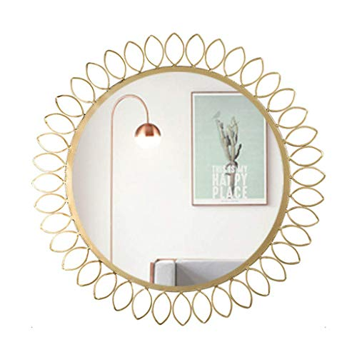 WFH Spiegel, Badezimmer, Wandmontage, Schminkspiegel, Schminktisch, Nordic Iron Art Dekorative Wand Leichte Rasur...