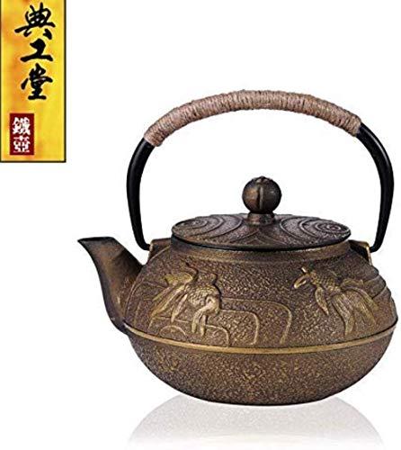 Cast Iron Teapot Cast Iron Teapots Chinese Classic Tea Pot Stove Top Teapots with Infuser 900Ml,D