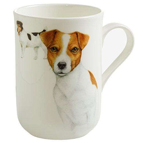 Maxwell & Williams Pets Jack Russell Hund, Geschenkbox, Porzellan, PB0701 Becher, braun, weiß, 10.5 x 7.5 x 10.5 cm