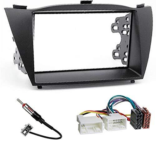 Sound Way - Kit Mascherina Adattatore autoradio 2 DIN Compatibile Hyundai IX-35 / Tucson IX 2010