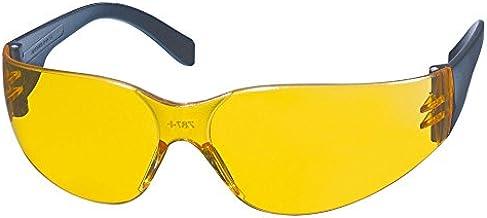 KWB 49378610 – Veiligheidsbril, CD-frame gele anti-mist polycarbonaat lenzen, UV 400 bescherming, optische klasse 1