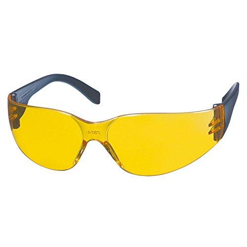 KWB 49378610–Schutzbrille mit CD-Rahmen, gelbe Anti-Nebel-Gläser, Polycarbonat, UV 400Schutz, optischer Grad 1
