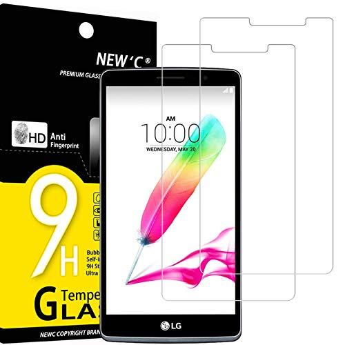 NEW'C 2 Stück, Schutzfolie Panzerglas für LG G4 Stylus, Frei von Kratzern, 9H Festigkeit, HD Bildschirmschutzfolie, 0.33mm Ultra-klar, Ultrawiderstandsfähig