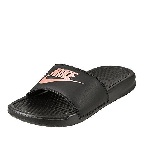 Nike Wmns Benassi JDI, Scarpe da Ginnastica Donna, Black/Rose Gold, 39 EU