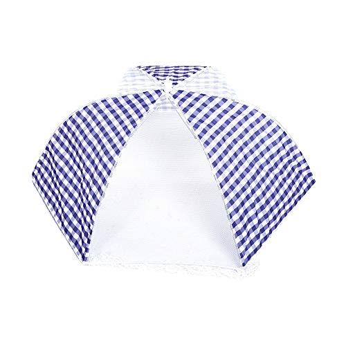 Jadeshay Paraguas Cubierta de Paraguas Plegable para Alimentos Herramienta de Cocina para Barbacoa 64 cm de diámetro(Azul)