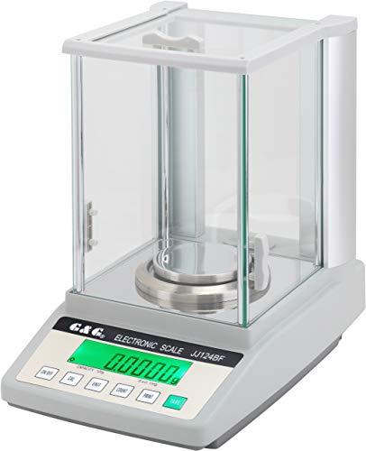 Hanchen Laboratoriumweegschaal, analytische weegschaal, analytische balansschaal voor apotheek juwelier chemiefabrik school, 320g/ 0,1mg