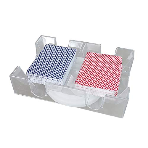ACECITY Paquete de Tarjetas, Bandeja de Naipes Canasta, Plástico Impermeable, sin rasgaduras, Limpie Las Tarjetas de Juego, Inc. Estuche Camping Essential