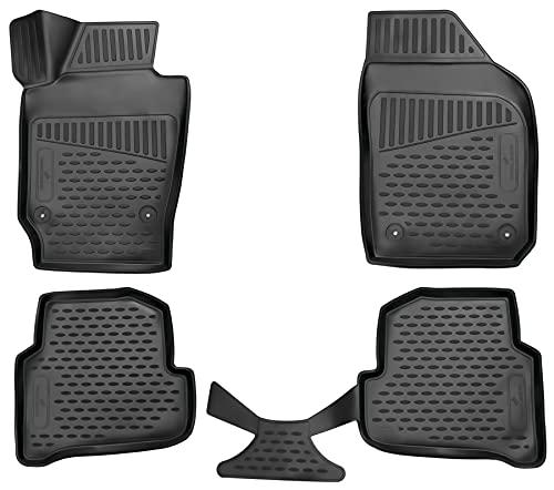 Walser XTR Gummifußmatten kompatibel mit Skoda Fabia III 2014-2018, passgenaue Auto Gummimatten, Autofußmatten Gummi