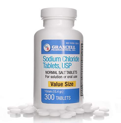 Sodium Chloride Tablets 1 Gm   300 Count   Normal Salt Tablets   (15.4gr.)