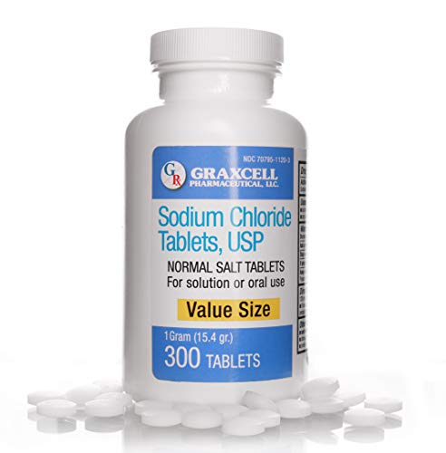Sodium Chloride Tablets 1 Gm | 300 Count | Normal Salt Tablets | (15.4gr.)