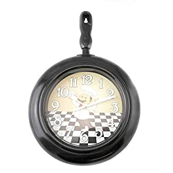 Bon Appetit Chef Frying Pan Wall Clock 14.75 x 9.75 Home Decor Kitchen Decor Black