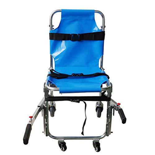 GEEFSU-Aluminium Rescue Stretcher Opvouwbaar voor Ambulance Fracture Patiënten Op en neer De Trappen - Maat 90 * 51 * 91CM