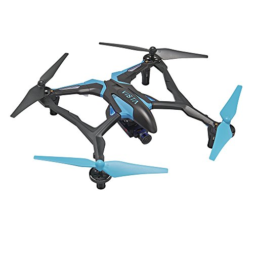 Dromida Vista FPV Ready-to-Fly 251 mm Electric Drone with Tactic DroneView 720p Wi-Fi Mini Camera, Radio, Micro Memory Card, Batteries and Charger (Blue)