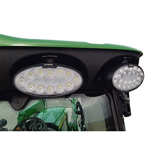 CRAWER Arbeitsscheinwerfer oval 60 Watt CREE LEDs für John Deere R-Serie