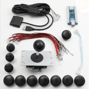 Gozar Arcade Vervanging Set USB-luidspreker Joystick toetsen voor Windows voor PS3 voor Qp4 Android Smart TV Box TV