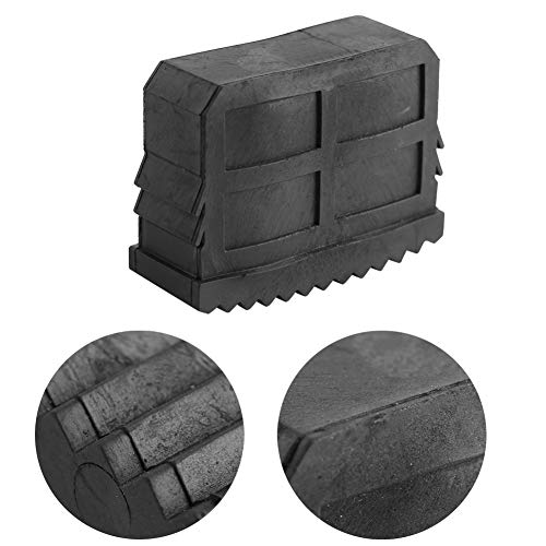 Winnfy 2 unidades/par de alfombrillas de goma antideslizante de repuesto para escalones y pies de escalera, color negro